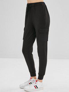 Pantalones De Chándal De Pista - Negro M