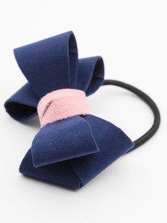 Bandeau Élastique Élégant Avec Nœud Papillon - Ardoise Bleue Foncée
