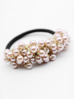 Bandeau Elastique Avec Fausse Perle - Or
