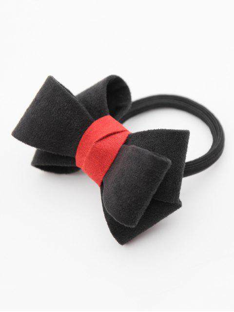 fashion Stylish Bowknot Elastic Hairband - BLACK  Mobile