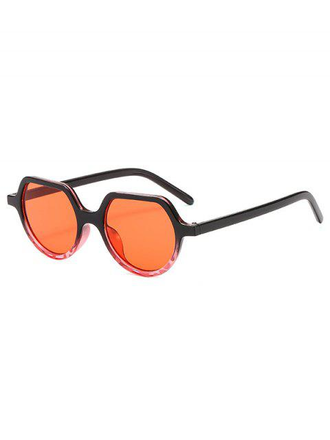 unique Minimalist Style Irregular Geometric Design Sunglasses - RED  Mobile