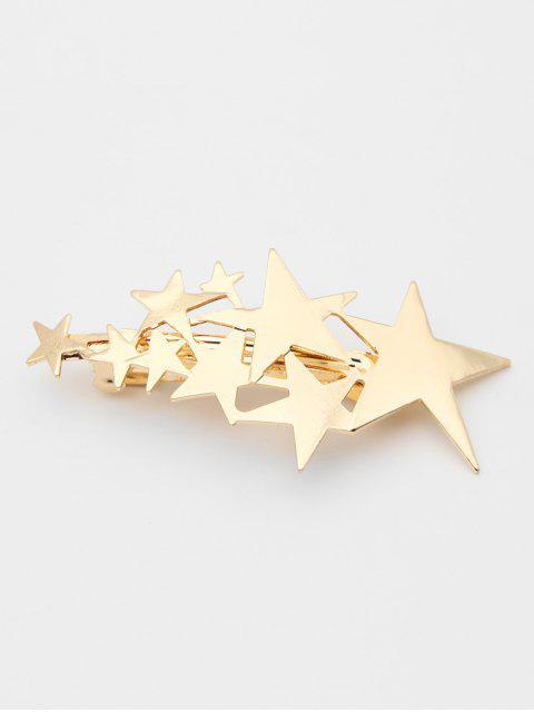 online Stylish Alloy Star Decorative Hair Clip - GOLD  Mobile