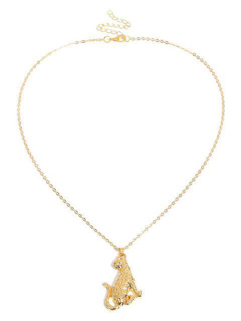 Американское Европейское Ожерелье Металл Форма леопарда - Золотой  Mobile