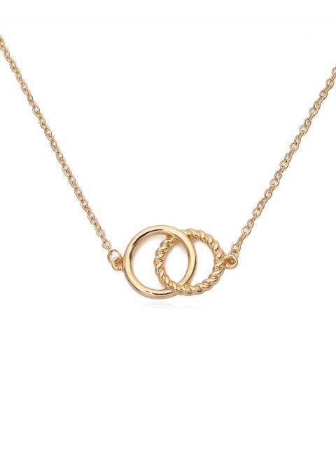 С двойными кольцами Металл Ожерелье Чокер - Золотой  Mobile