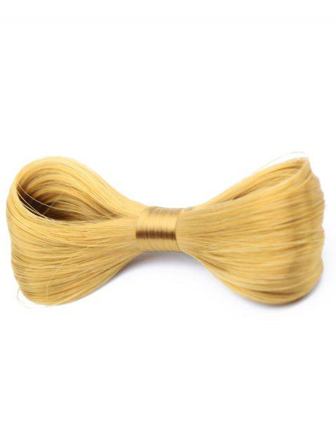 women's Bowknot Wig Embellished Hair Clip - GOLD  Mobile