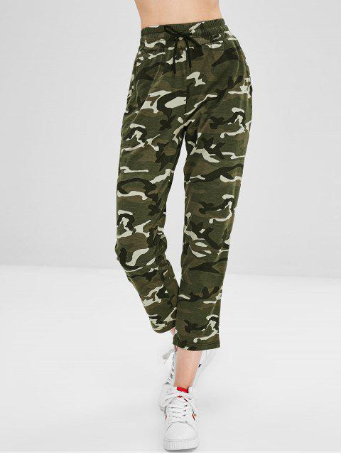 new Camouflage Drawstring Capri Pants - ACU CAMOUFLAGE S Mobile