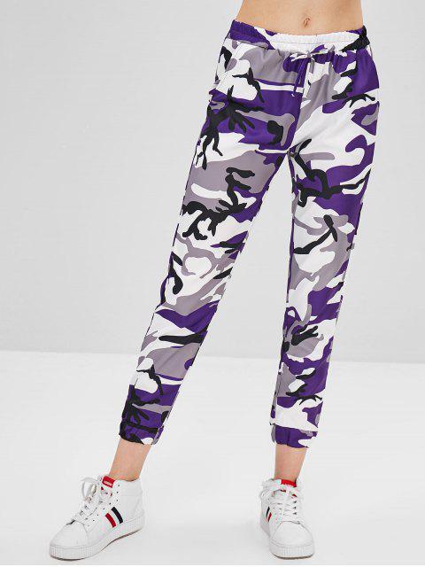 Pantalon Camouflage à Cordon - Iris Pourpre L Mobile