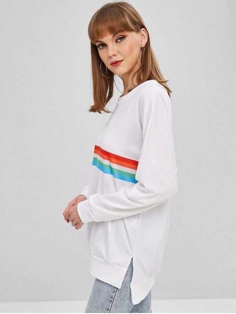 Sweat-shirt Surdimensionné Bouffant Rayé - Multi-B M Mobile