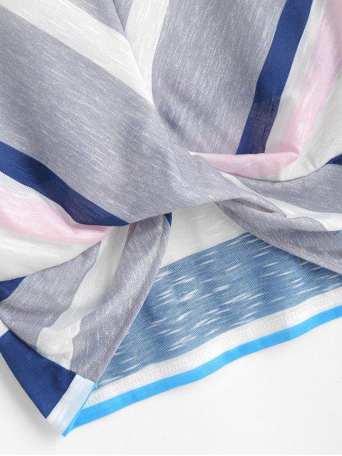 trendy ZAFUL Striped Crop Tee - MULTI L Mobile
