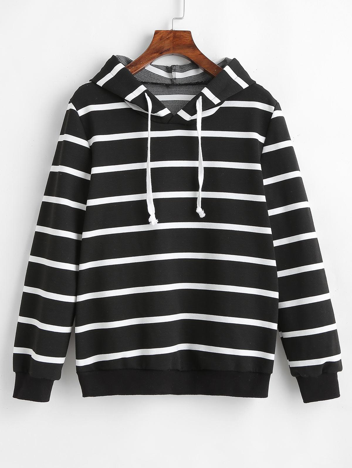ZAFUL Drawstring Striped Hoodie фото