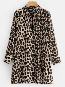 كم طويل فستان ليوبارد تونك - فهد L