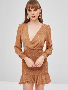 فستان بطبعة حورية البحر - سكر بني M