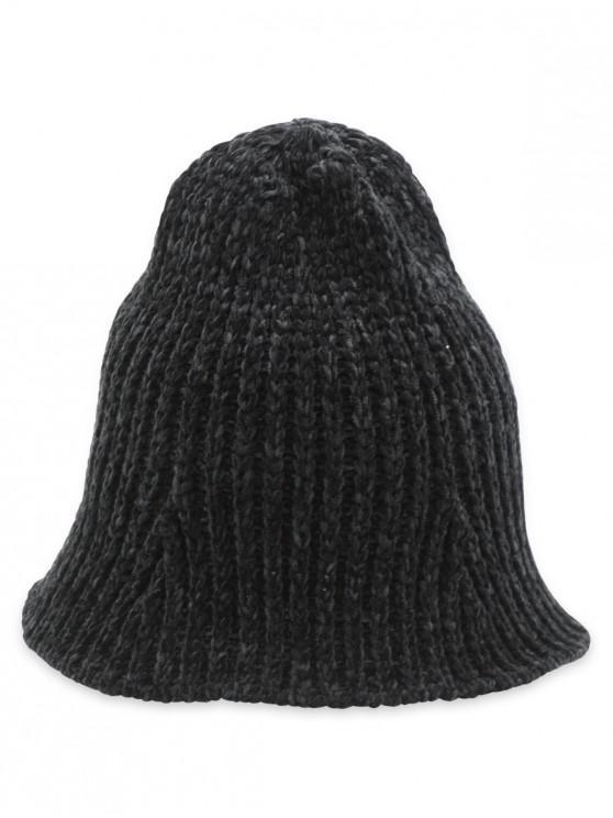 Crochet Knitted Foldable Bucket Hat - أسود