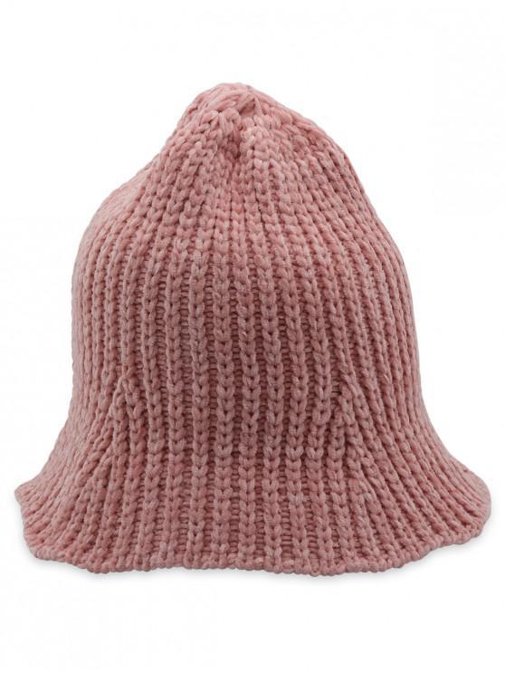 women's Crochet Knitted Foldable Bucket Hat - PINK