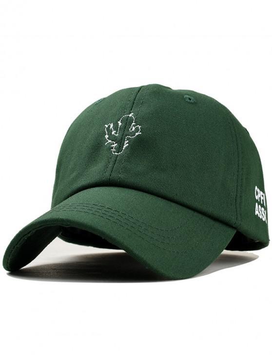 Casquette de Base-ball Cactus Brodé - Vert Mer Moyen