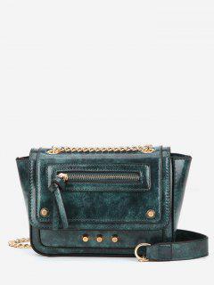 Rivet Decoration Solid Color Handbag - Medium Sea Green