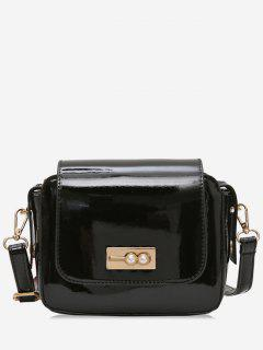Faux Pearl Decoration Solid ColorHandbag - Black
