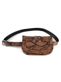 Leopard Removable Fanny Pack Belt Bag - Camel Brown
