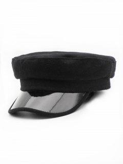 Winter Fashionable Flat Top Hat - Black