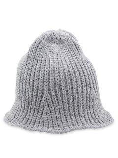 Crochet Knitted Foldable Bucket Hat - Gray