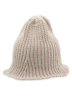 Crochet Knitted Foldable Bucket Hat - Beige