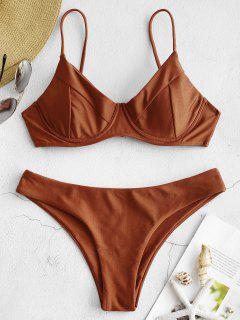 Bikini Con Aros Brillantes ZAFUL - Chocolate M