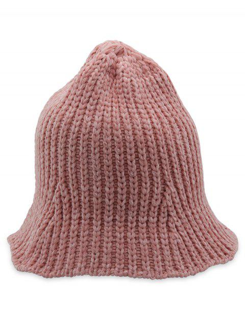 women's Crochet Knitted Foldable Bucket Hat - PINK  Mobile