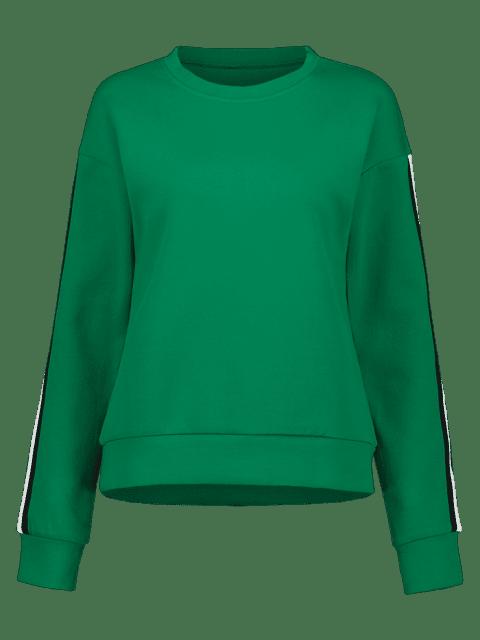 ZAFUL - Sweatshirt mit Kontraststreifen und Streifenmuster - Kleeblatt Grün M Mobile