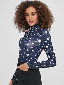 موك الرقبة نجوم ارتداءها - منتصف الليل الأزرق L