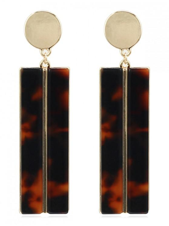 women Granite Pattern Geometric Design Earrings - LEOPARD