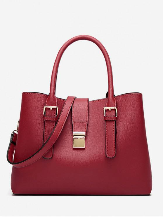 latest Retro Large Capacity Handbag - RED