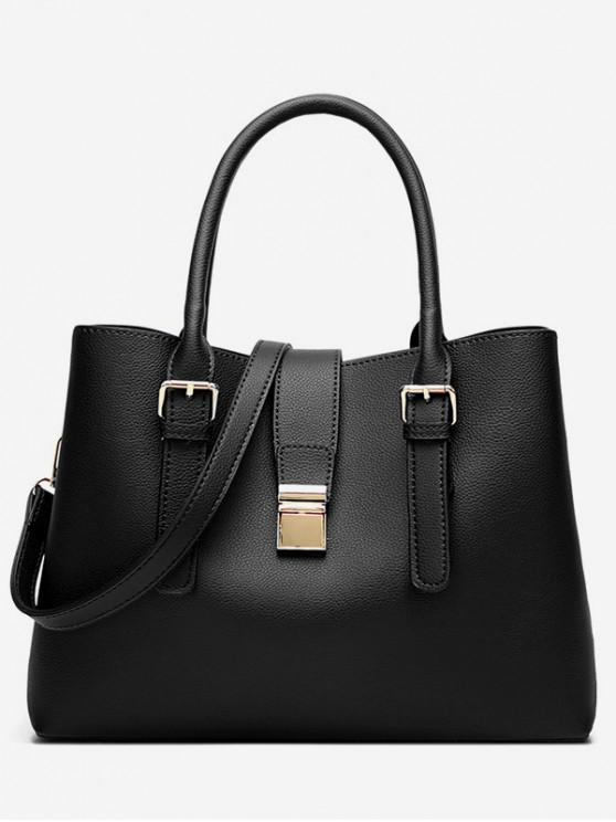 ladies Vintage Large Capacity Handbag - BLACK