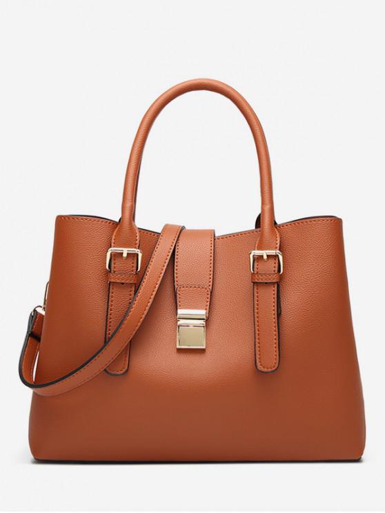 fancy Vintage Large Capacity Handbag - BROWN