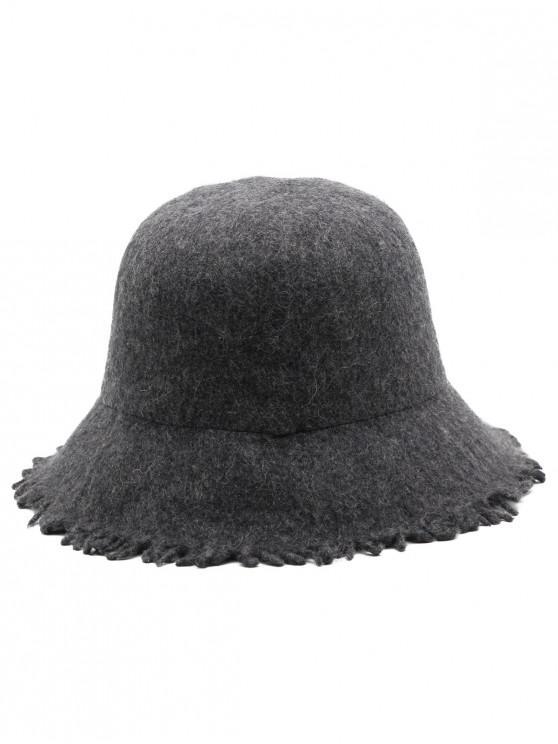 f345208d31a1 24% OFF  2019 Faux Wool Winter Bucket Hat In DARK GRAY