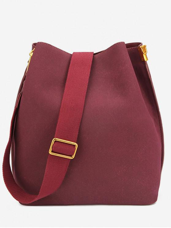 37% OFF  2019 Wide Strap Buckle Crossbody Bag In RED  597b01311