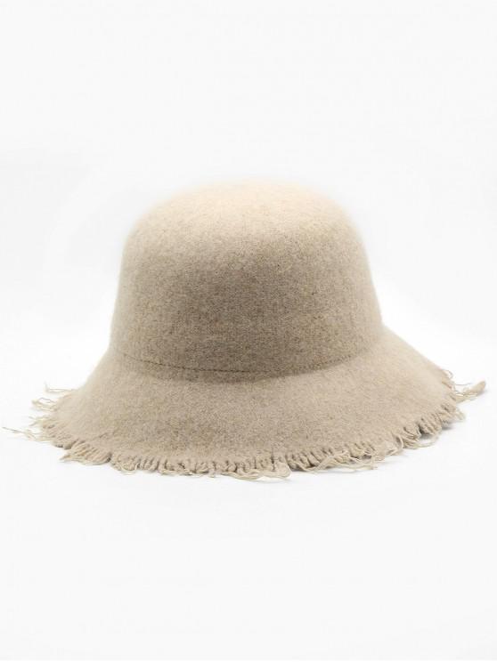 Faux Wool Winter Bucket Hat - كاكي