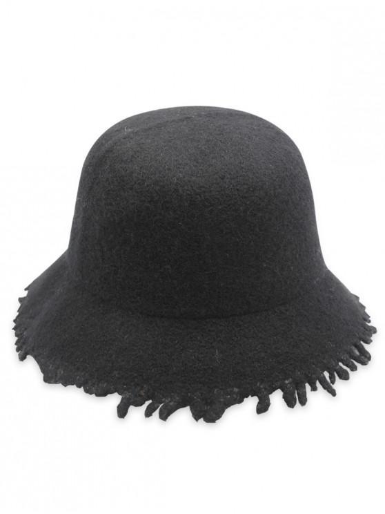 2019 Faux Wool Winter Bucket Hat In BLACK  1a7d974c40a