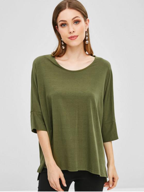 Camiseta de manga extragrande de murciélago - Ejercito Verde M