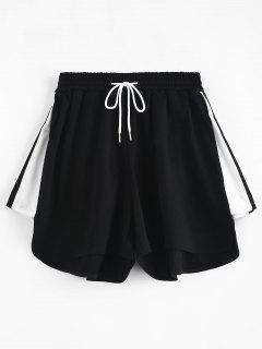 Short à Taille Haute Avec Cordon De Serrage - Noir L