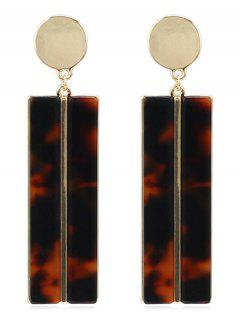 Granite Pattern Geometric Design Earrings - Leopard