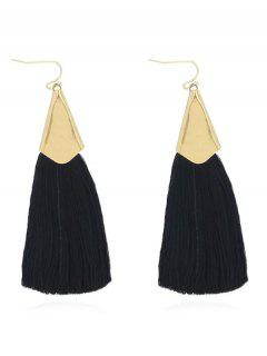 Stylish Tassel Design Earrings - Black