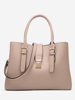 Vintage Large Capacity Handbag - Light Khaki