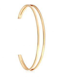 Stylish Hollow Out Alloy Bracelet - Gold