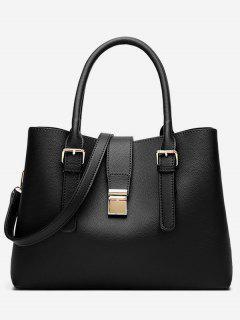 Vintage Large Capacity Handbag - Black