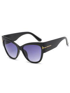 Unisex PC Butterfly Frame Sunglasses - Black