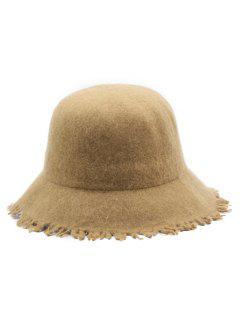 Faux Wool Winter Bucket Hat - Camel Brown