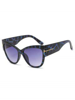 Unisex PC Butterfly Frame Sunglasses - Navy Blue