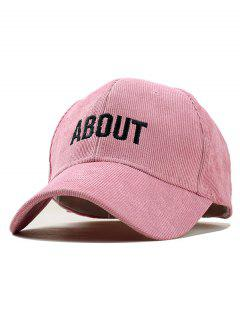 Letter Decoration Simple Style Baseball Hat - Pink