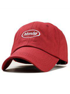 Letter Embroidery Decoration Baseball Hat - Red