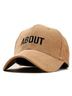 Letter Decoration Simple Style Baseball Hat - Brown Sugar